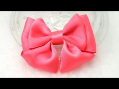 How to make Fashion Ribbon Bow, DIY, Tutorial, Just One piece of Ribbon