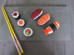 Lot de sushi et maki en feutrine