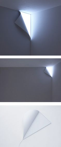 Whoa! Light peeking in from out side // Peel Wall Light by YOY - very very cool!!  but ... it's over $1,000.