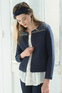 Jacket Olga Indigo - veste - Des Petits Hauts 1