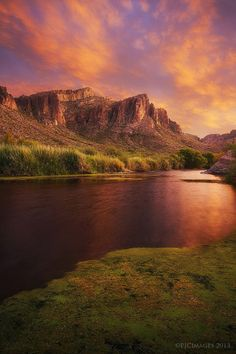 Toxic Sunset - Another shot from the lower salt river from a few evenings ago when the light was just amazing.