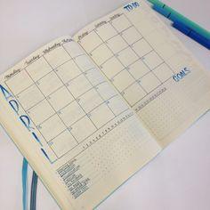 #BJ #agenda #planner #page #mensuel #objectifs #tracker #idée #modèle