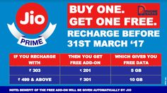 Exclusive: #JioPrime users get Buy One Get One Recharge Offer. Read more at http://phoneradar.com/exclusive-reliance-jio-prime-users-get-buy-one-get-one-free-recharge-offer/ #fashion #style #stylish #love #me #cute #photooftheday #nails #hair #beauty #beautiful #design #model #dress #shoes #heels #styles #outfit #purse #jewelry #shopping #glam #cheerfriends #bestfriends #cheer #friends #indianapolis #cheerleader #allstarcheer #cheercomp  #sale #shop #onlineshopping #dance #cheers…