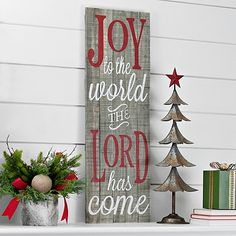 Joy To The World Wooden Plank Wall Plaque