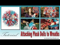 How to Add Plush Dolls to Wreaths