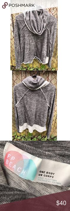 Free People cocoon long sleeve pullover Free People beach line, cowl neck. Worn a few times no holes or stains- like new. Color on FP website is listed as Charcoal. Free People Sweaters Cowl & Turtlenecks