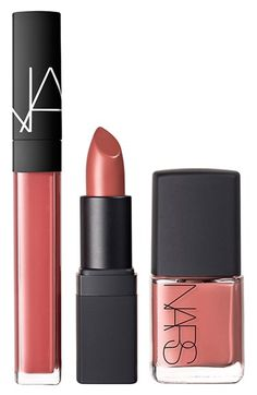 "The perfect neutral lip/nail trio! Can't get enough of this ""Dolce Vita"" color by NARS."