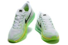 the latest 0a011 3b790 Fresh Nike Flyknit Air Max White Green