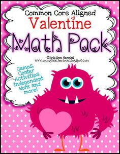 Valentine Themed Math Games, Centers and Activity Pack - Help your upper elementary 4th, 5th, and 6th grade students stay engaged with high interest activities. They will work on multiplying decimals, adding and subtracting fractions, long division, adding decimals, algebra, coordinates, money, and more this February. Great for math centers, stations, review, test prep, early or fast finishers, and more. (fourth, fifth, sixth graders) #ValentinesDayMath