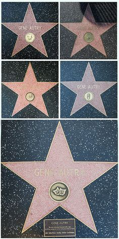 Gene Autry , Walk of Fame Quintet Stars....Motion Pictures, Television, Recordings, Radio, and Live Performances, including Rodeo. Only Gene has 5 stars