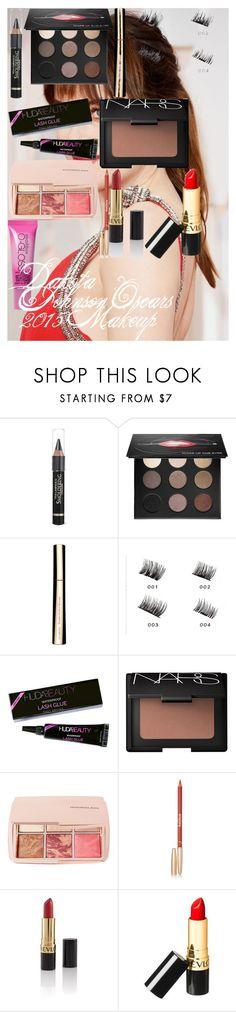 """Dakota Johnson Oscars 2015 Makeup"" by oroartye-1 on Polyvore featuring beauty, MAKE UP FOR EVER, Clarins, Huda Beauty, NARS Cosmetics, Hourglass Cosmetics, Sisley, Revlon and Smashbox"
