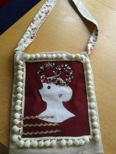 handmade Alice in Wonderland bag