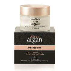 OLIVE & ARGAN MULTI-EFFECTIVE NIGHT FACE CREAM: Krem wzmacnia, głęboko nawilża i przyspiesza naturalny proces odmłodzenia skóry. Wyjątkowy skład TimeCode™ Formula skutecznie działa przeciwstarzeniowo, niweluje zmarszczki oraz likwiduje przebarwienia.