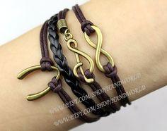 Jewelry Bracelet Note And Infinity Karma Bracelet by handworld, $5.19