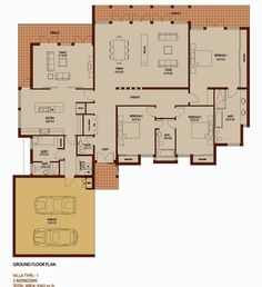 3 Bedroom 3542 sq ft - Saheel - Arabian Ranches - Dubai Floor Plans