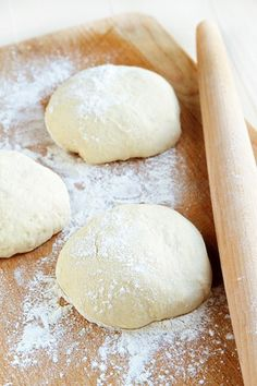 Simple No Knead Olive Oil Pizza Dough recipe that is perfect for homemade flatbread, focaccia, and of course, pizza.