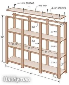 How to build sturdy customized shelving for storing bins & boxes. Lots of storage DIY.