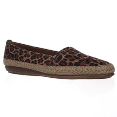 Aerosoles Solitaire Slip-On Espadrille Flats - Leopard Tan