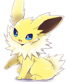Extremely Cute Jolteon Pokemon Show, Pokemon Pins, My Pokemon, Pikachu, Fotos Do Pokemon, Pokemon Eeveelutions, Eevee Evolutions, Pokemon Memes, Pokemon Fan Art