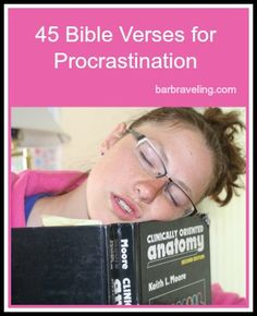 Do you struggle with getting things done? Praying through these Bible verses for procrastination will help you see work from God's perspective, which will make it easier to get things done!