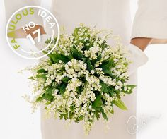 Delicate Lily of the Valley and bold geranium leaves combine for a simple, elegant bouquet.