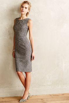 Bronzed Tweed Sheath dress - anthropologie.com #AnthroFave