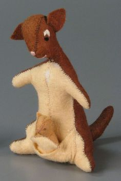 Roo was lost long ago.... Then someone made a little one from pictures in the book.
