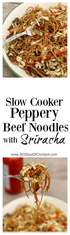Crockpot Peppery Beef Noodles Recipe: To make this recipe you'll just throw some… Slow Cooker Roast, Slow Cooker Recipes, Crockpot Recipes, Cooking Recipes, Good Food, Yummy Food, Yummy Drinks, Sauces, Beef And Noodles