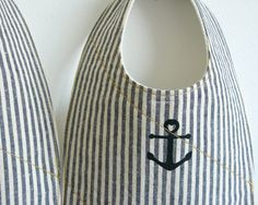 organic baby bib anchor by downhomeamy on Etsy, $18.00