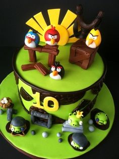 Angry birds  Cake...great idea! Would love to try for Isaiah's bday!