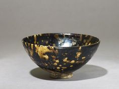 Black ware tea bowl with 'tortoiseshell' glazes, 2nd half of the 11th century – 1st half of the 12th century, Song Dynasty (AD 960 – 1279)