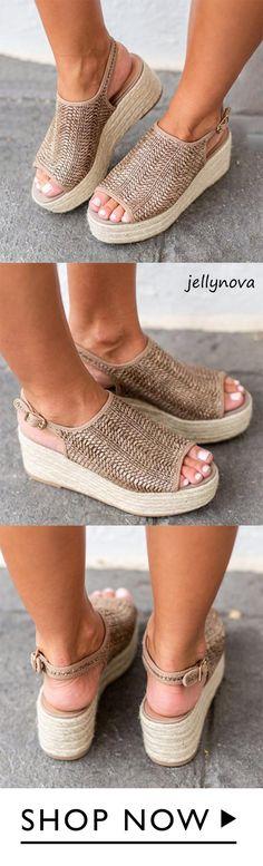 Sheinlook Casual Platform Peep Toe Espadrille Sandals – # Source by Zapatos Peep Toe, Peep Toe Shoes, Peep Toe Espadrilles, Espadrille Sandals, Cute Shoes, Me Too Shoes, Mode Monochrome, Fashion Shoes, Fashion Accessories