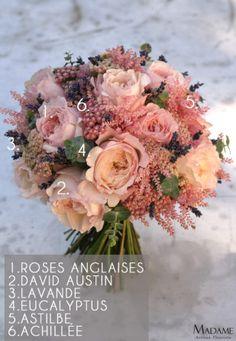 Bouquet de mariee rose et lavande par Madame Artisan fleuriste – La mariee aux pieds nus