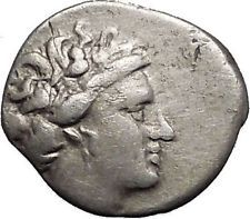 Histiaia in Euboia 300BC Nymph Galley Authentic Ancient Silver Greek Coin i55989