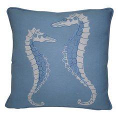 Seahorse 45x45cm Cushion, Breeze