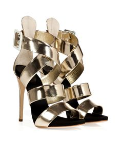 Platinum Leather Wafer Platform Sandals