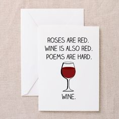 Roses are Red Greeting Cards on CafePress.com