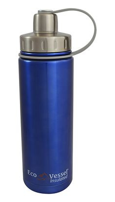 EcoVessel BOULDER Vacuum Insulated Stainless Steel Water Bottle with Dual Opening Top and Tea, Fruit, Ice Strainer >>> You can get more details by clicking on the image.