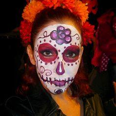 Dia de Los Muertos makeup on me! #diadelosmuertos
