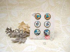 Resin Earrings Post Earrings Stud Earrings Bird Earrings