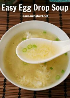 Easy Egg Drop Soup Recipe - this soup is perfect for a quick meal or an Asian themed dinner.