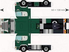 PaperCraft Scania - Van Achteren Transport B. Paper Model Car, Paper Car, Cardboard Toys, Paper Toys, Free Paper Models, Model Train Layouts, Aircraft Design, Printable Paper, Model Trains