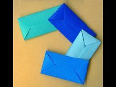 How To Make An Envelope Without Glue Or Tape. Gift wrap. Конверт - оригами - YouTube