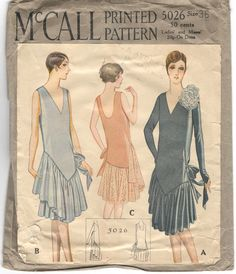 1920s dress pattern  McCall 5026 by PatternVault on Etsy, $45.00