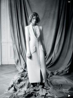 Chanel haute couture dress and sandals. - Glossy Newsstand: VOGUE AUSTRALIA NOVEMBER 2014