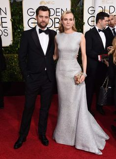 Joshua Jackson and Diane Kruger arrive at the 72nd annual Golden Globe Awards at the Beverly Hilton Hotel in Beverly Hills, Calif., on Jan. 11, 2015.