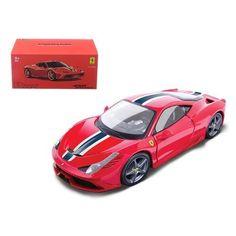Ferrari 458 Speciale Red Signature Series 1/43 Diecast Model Car by Bburago