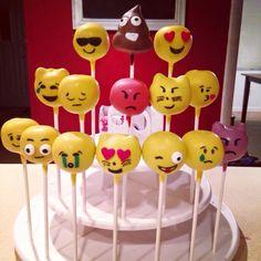 Emoji Cake Pops 13 Birthday Cake, 13th Birthday, Birthday Parties, Cupcakes, Cupcake Cakes, Emoji Cake Pops, Cakepops, Fondue Party, Cookie Pops