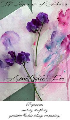 Glamour Drops : Language of Flowers : April's Sweet Pea