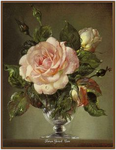 Still Life with Rose by Cecil Kennedy Art Floral, Flores Art Nouveau, 10 Tattoo, British Flowers, Still Life Flowers, Still Life Art, Botanical Art, Beautiful Paintings, Vintage Flowers